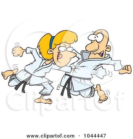 1044447-Royalty-Free-RF-Clip-Art-Illustration-Of-A-Cartoon-Karate-Woman-Punching-Her-Fist-Through-A-Mans-Chest.jpg