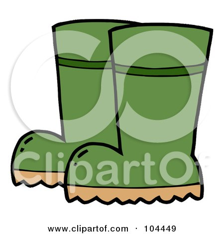 Pair Of Green Gardening Rubber Boots Posters, Art Prints