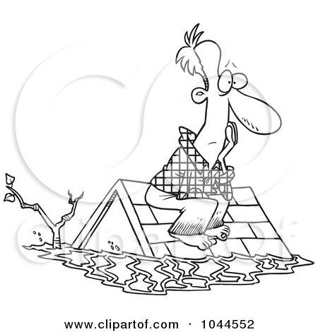 Royalty-Free (RF) Clip Art Illustration of a Cartoon Flood ...