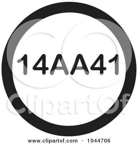Royalty-Free (RF) Clip Art Illustration of a Black And White Round 14AA41 Text Message Icon by Jamers