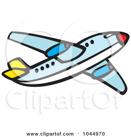 Royalty-Free (RF) Clipart Illustration of a Commercial Airliner by xunantunich