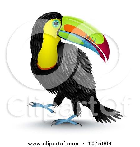 3d Toucan Bird Looking Back Over Its Shoulde Posters, Art Prints