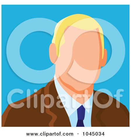 Royalty-Free (RF) Clip Art Illustration of a Faceless Businessman Avatar - 3 by yayayoyo