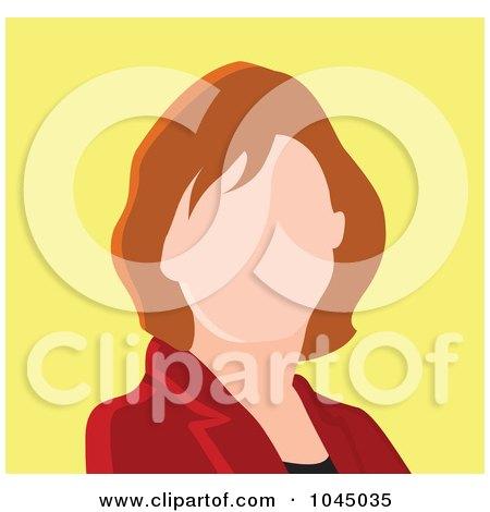 Royalty-Free (RF) Clip Art Illustration of a Faceless Businesswoman Avatar - 3 by yayayoyo