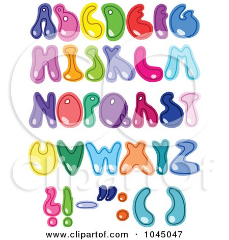 Royalty-Free (RF) Clip Art Illustration of a Digital Collage Of Colorful Alphabet Letters by yayayoyo