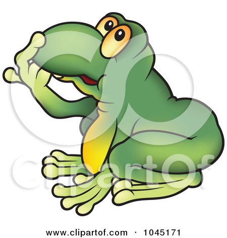 Royalty-Free (RF) Clip Art Illustration of a Thinking Frog by dero