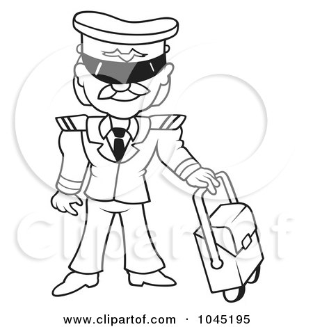 Royalty-Free (RF) Clip Art Illustration of a Black And ...