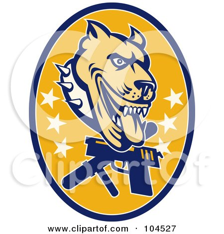 Guard Dog Pit Bull Logo Posters, Art Prints