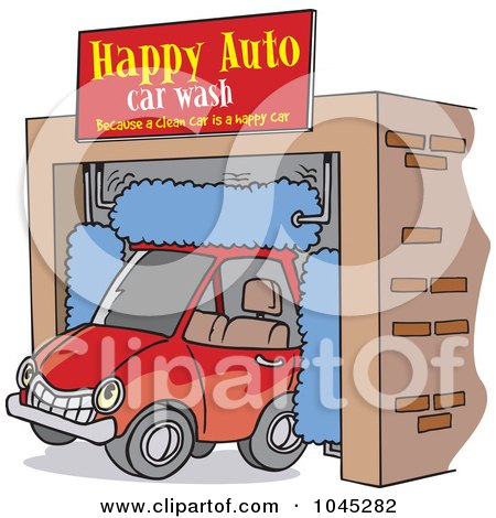 cartoon car wash clip art. Art Print Description