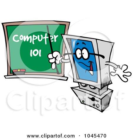 Free Computer Teacher Clipart