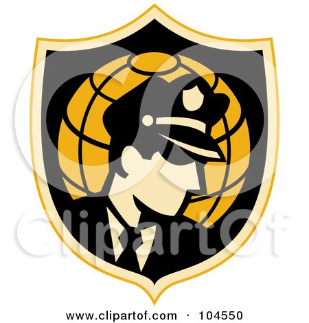 Royalty-Free (RF) Clipart Illustration of a Security Guard Badge Logo by patrimonio