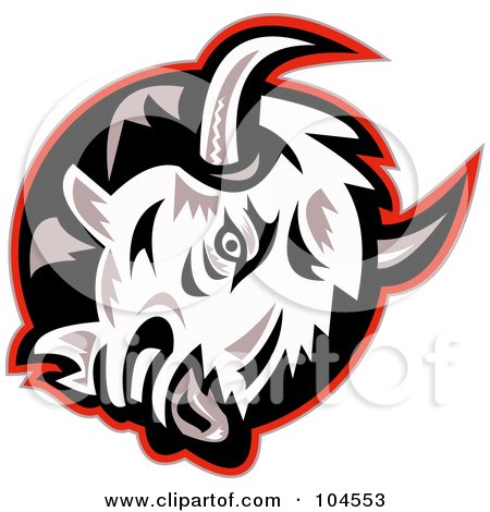 Royalty-Free (RF) Clipart Illustration of a Mad Bison Logo by patrimonio