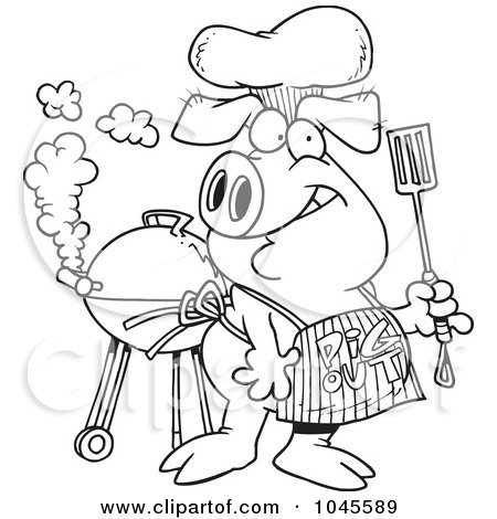 Royalty Free Barbeque Illustrations by Ron Leishman Page 1