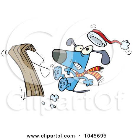 clip art dog sled