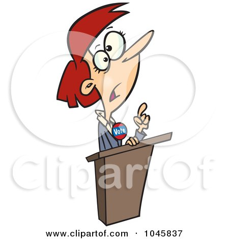 Royalty-Free (RF) Clip Art Illustration of a Cartoon Female Political Candidate by toonaday