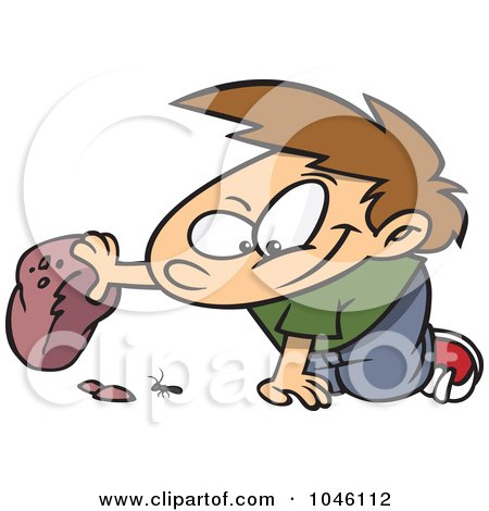 Throwing rocks clipart