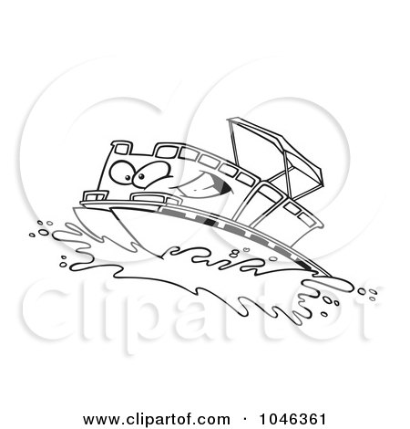Best Royalty-Free (RF) Pontoon Boat Clipart, Illustrations, Vector  OB32
