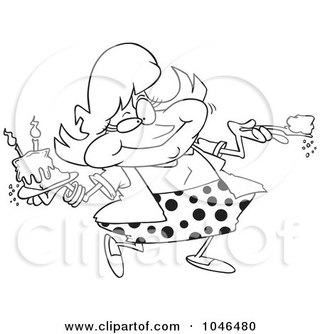 RoyaltyFree RF Clip Art Illustration of a Cartoon Black And