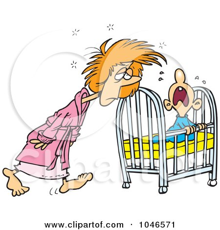 Royalty-Free (RF) Clip Art Illustration of a Cartoon Tired ...