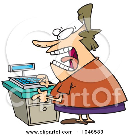 Royalty-Free (RF) Clip Art Illustration of a Cartoon Female Clerk by toonaday