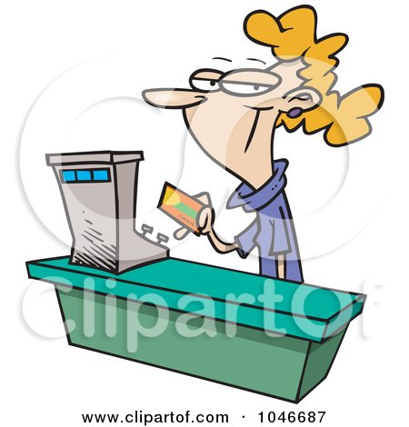 Royalty-Free (RF) Clip Art Illustration of a Cartoon Female Sales Clerk by toonaday