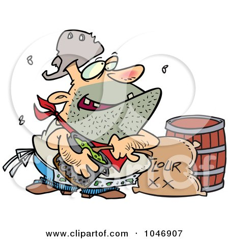 Royalty-Free (RF) Clip Art Illustration of a Cartoon Stinky Camp Cook by toonaday