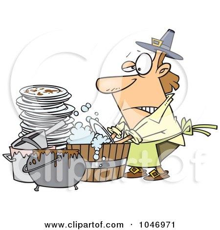 Boy Washing Dishes Cartoon Cartoon Man Washing Dishes in