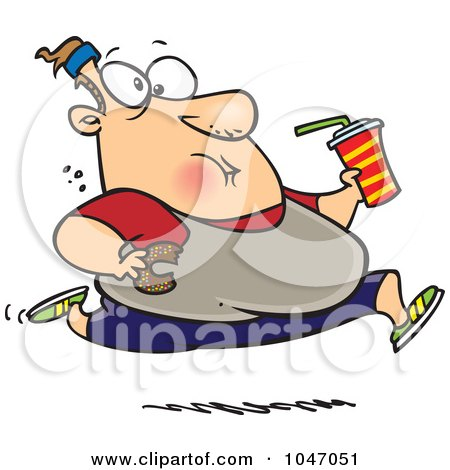 Cartoon of Obese Person