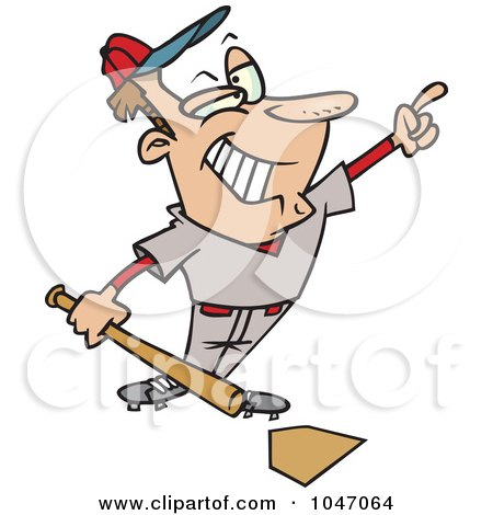 Royalty-Free (RF) Clip Art Illustration of a Cartoon Confident Baseball Player by toonaday