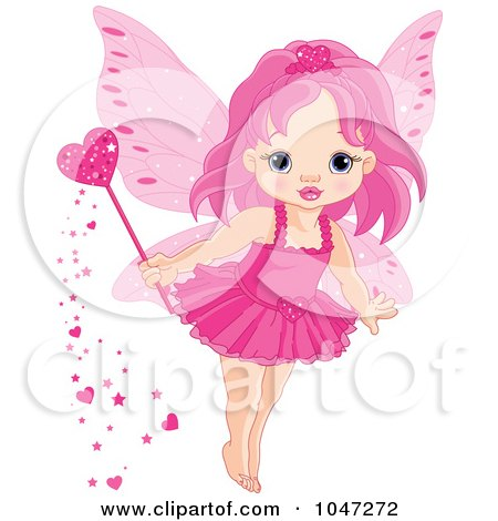 Tiny Pink Love Fairy With A Magic Wand Posters, Art Prints
