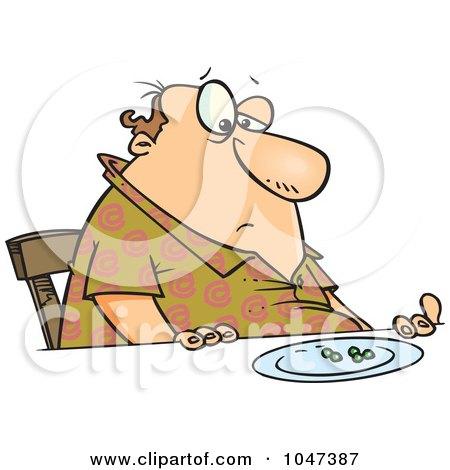 fat man cartoon. a Cartoon Fat Man Eating