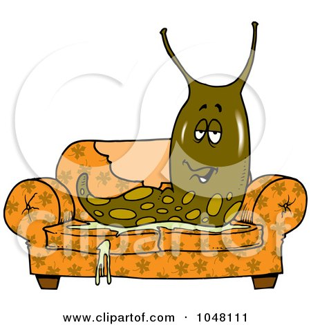 Royalty-Free (RF) Clipart Illustration of a Mad Slug ...