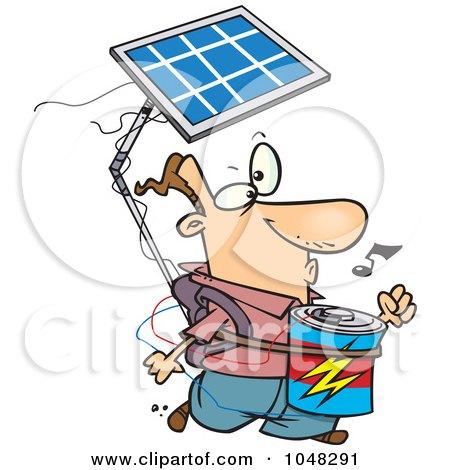 Cartoon Solar Power Guy Posters, Art Prints