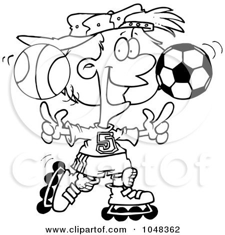 basketball ball cartoon. Cartoon Black And White