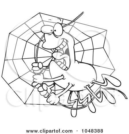 Cartoon black and white outline design of a spider - Spider outline clip art ...