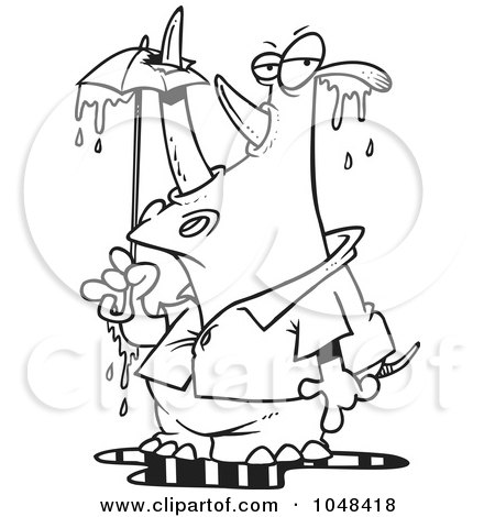 black and white umbrella clip art