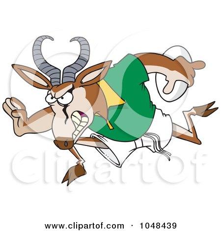 Cartoon Antelope Clipart a Cartoon Rugby Antelope