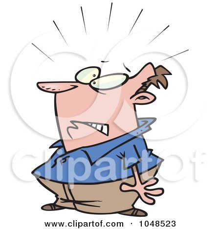 Royalty-Free (RF) Clip Art Illustration of a Cartoon Startled Man by toonaday