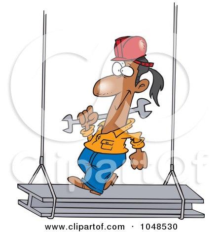 Royalty-Free (RF) Clip Art Illustration of a Cartoon Construction Steel Walker by toonaday