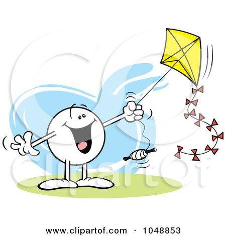 Καθαρη Δευτερα 2013 1048853-Royalty-Free-RF-Clip-Art-Illustration-Of-A-Happy-Moodie-Character-Flying-A-Kite