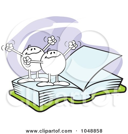 same clip clipart open blank characters pages illustration books royalty moodie rf sajem johnny clipartof