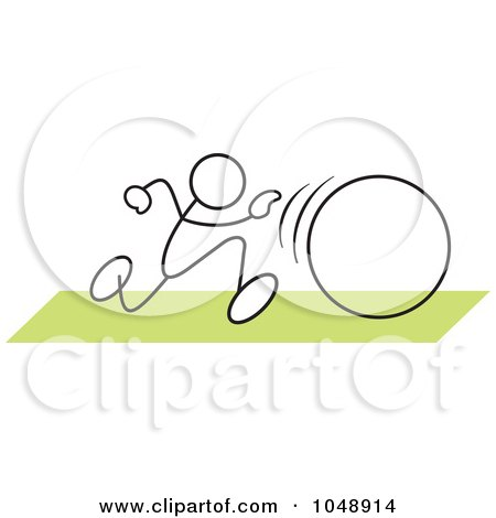 Royalty-Free (RF) Clip Art Illustration of a Stickler In A Hula Hoop Race Over Green by Johnny Sajem