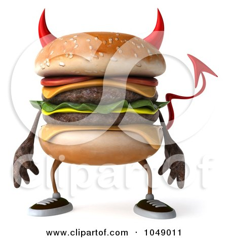 Royalty-Free (RF) Devil Burger Clipart, Illustrations, Vector ...