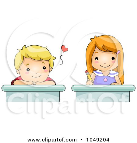 Royalty-Free (RF) Clipart Illustration of a Blond Girl ...