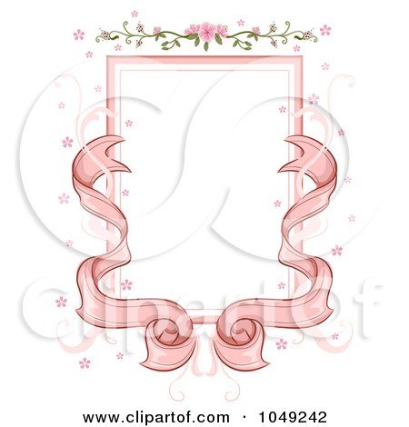 Royalty-Free (RF) Clip Art Illustration of a Pink Ribbon And ...