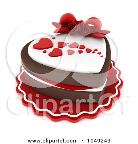 Royalty-Free (RF) Valentine Cake Clipart, Illustrations ...
