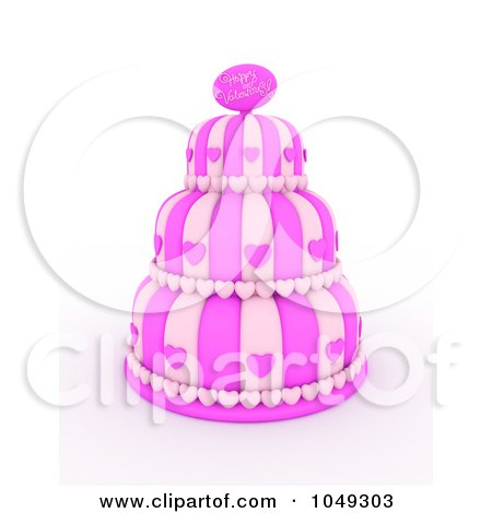 Royalty-Free (RF) Clip Art Illustration of a 3d Pink Three ...
