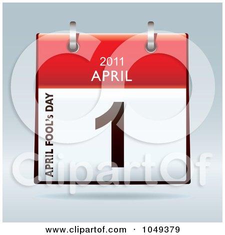 Royalty-Free (RF) Clip Art Illustration of a 3d April Fools Day Flip Desk Calendar by michaeltravers