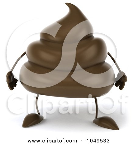 Royalty-Free (RF) Clip Art Illustration of a 3d Milk Chocolate Or Poop Character by Julos