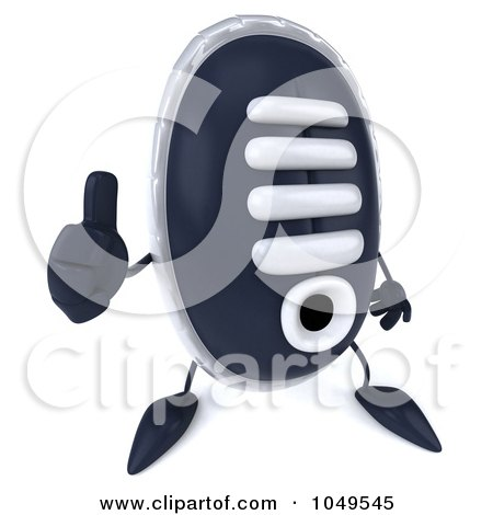 Royalty-Free (RF) Clip Art Illustration of a 3d Sneaker Shoe Character Holding A Thumb Up by Julos